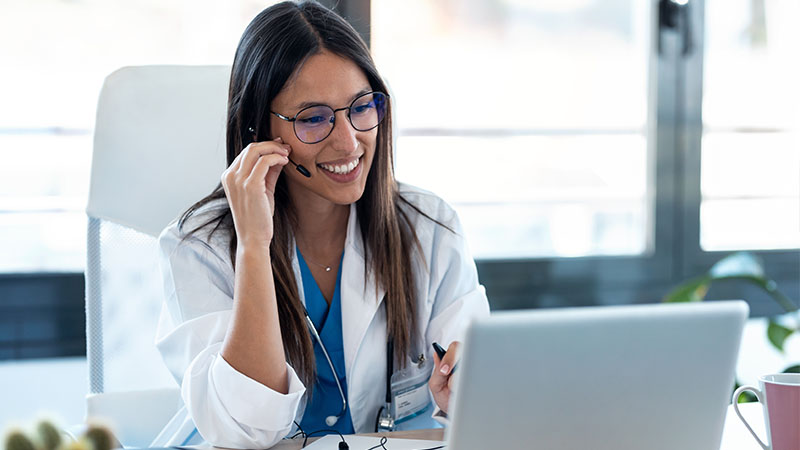 doctor on telehealth call