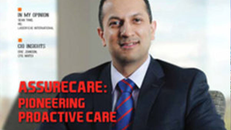 magazine cover of AssureCare CEO, Yousuf J. Ahmad